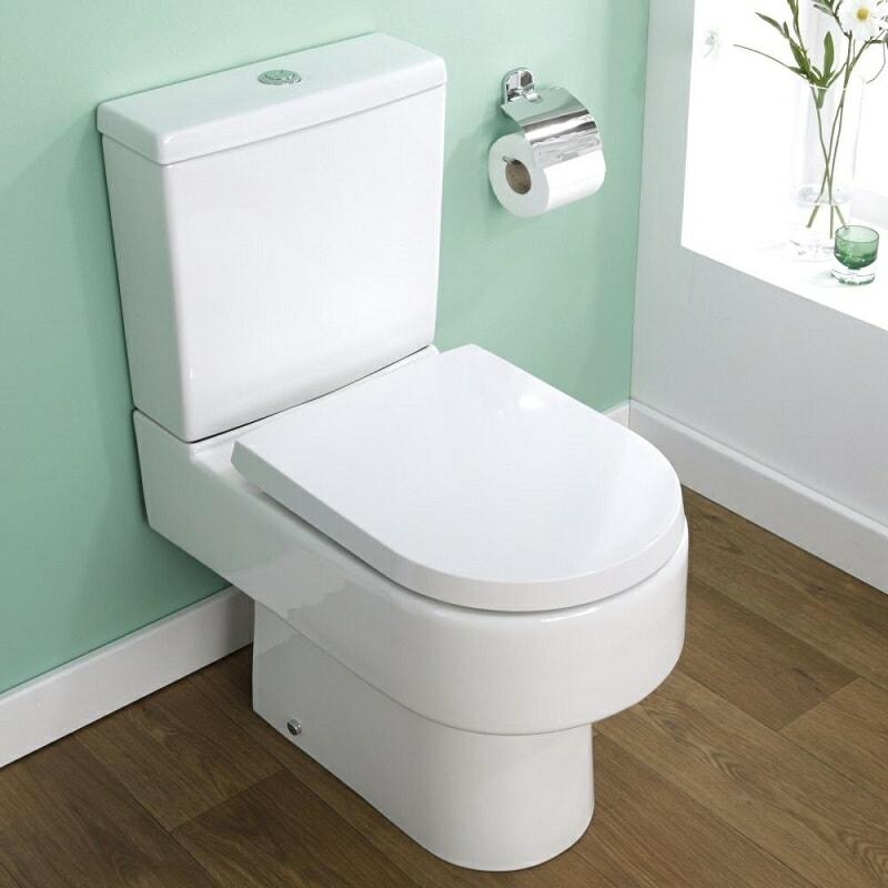modern white toilet