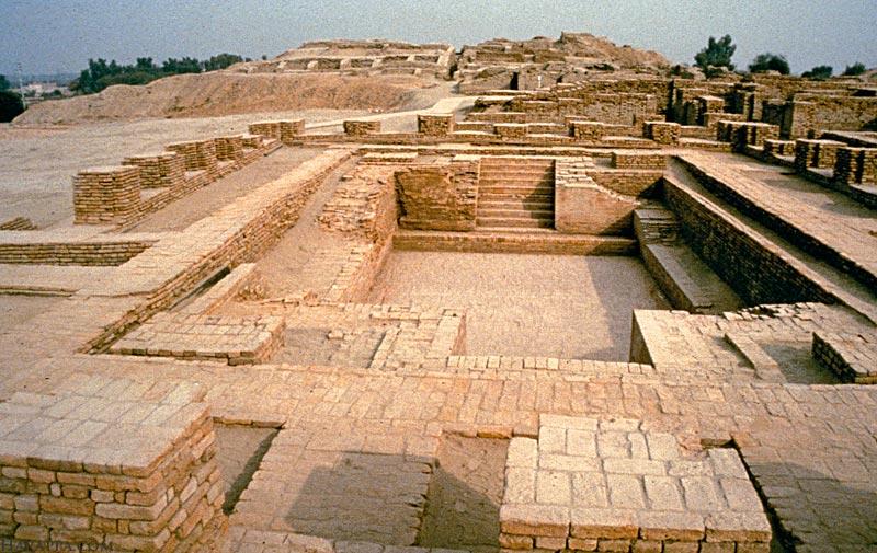 Ancient ruins of public baths - Harappa, Indus Valley