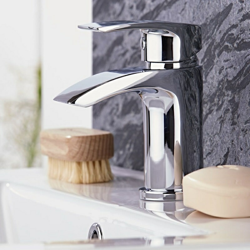 modern basin tap closeup