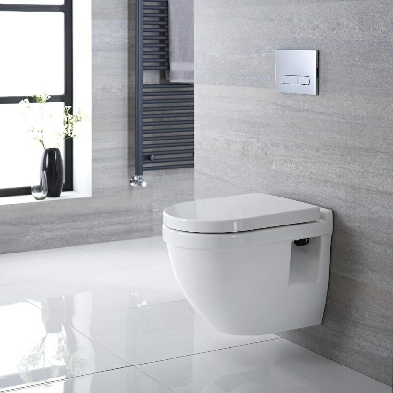 modern wall hung toilet