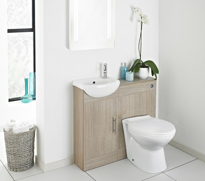 Toilet and basin combination unit with storage