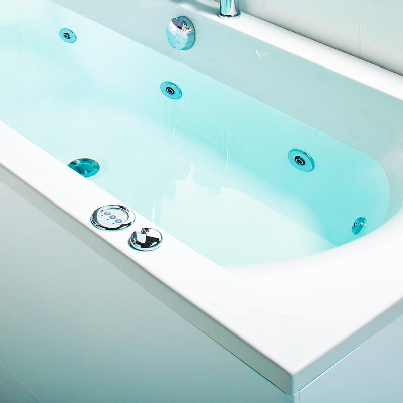 whirlpool bath filled with water