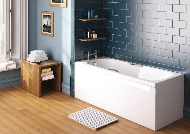 bath in modern bathroom