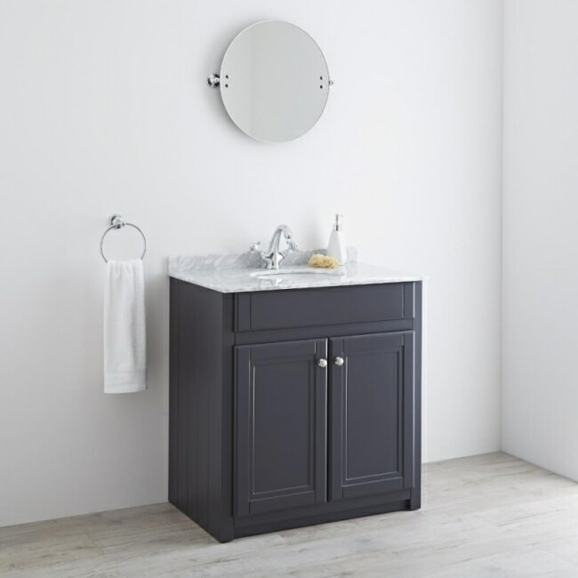 traditional style anthracite coloured vanity unit