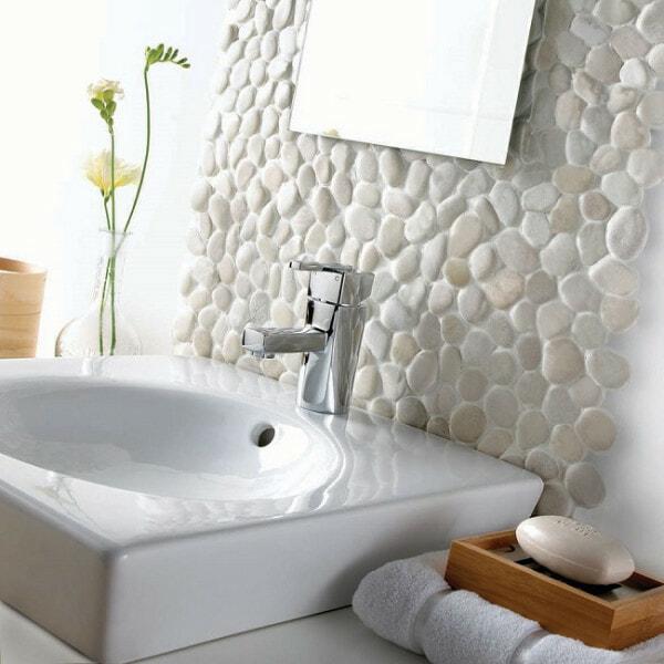 Blanca pebble tiles
