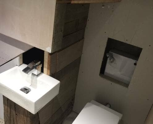 Loo with a View - basin and toilet