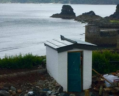 Loo with a View - the old hut