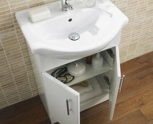 Vanity unit with basin