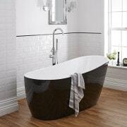 Milano black freestanding bath