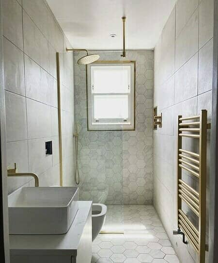 a modern shower and wetroom bathroom renovation