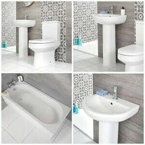 Milano Ballam bathroom suite at Big Bathroom Shop