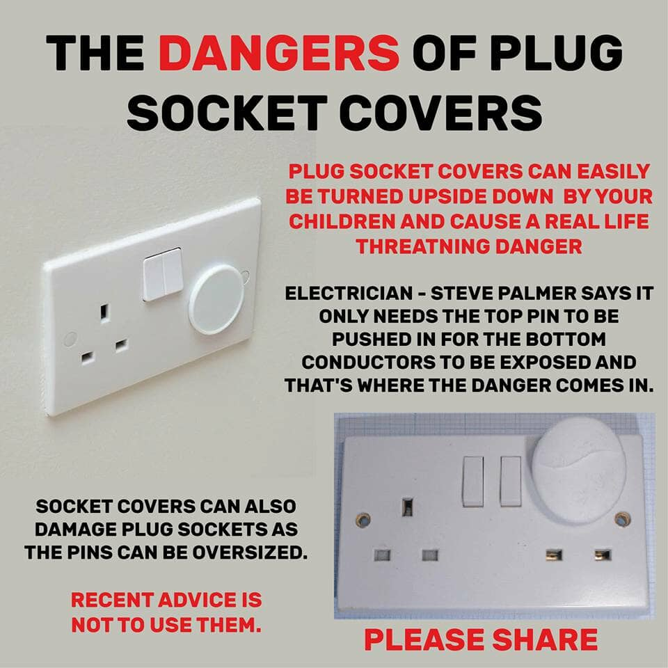 The dangers of plug socket covers