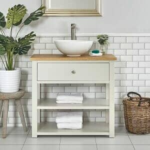 A Freestanding vanity unit