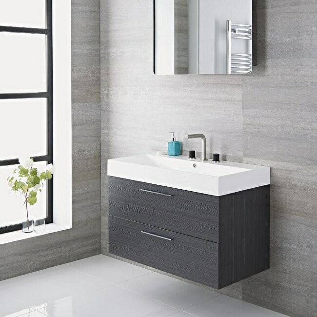 grey vanity unit
