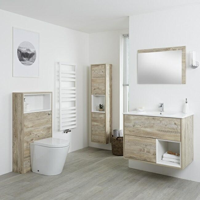 light oak vanity unit and furniture set