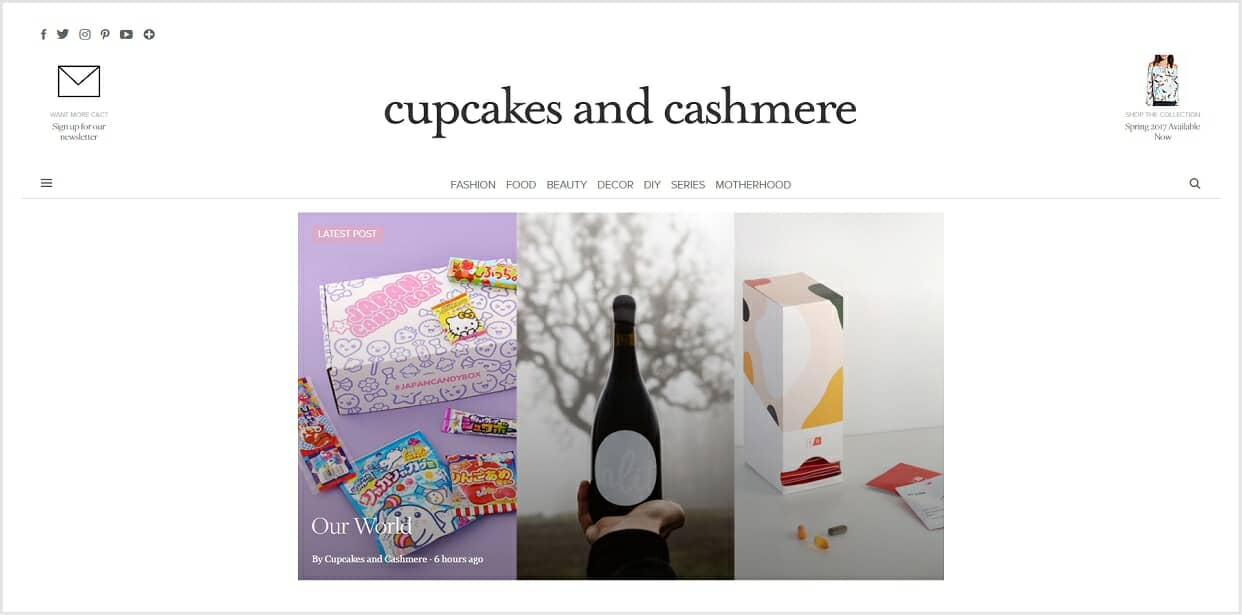 Cupcakes and Cashmere blog