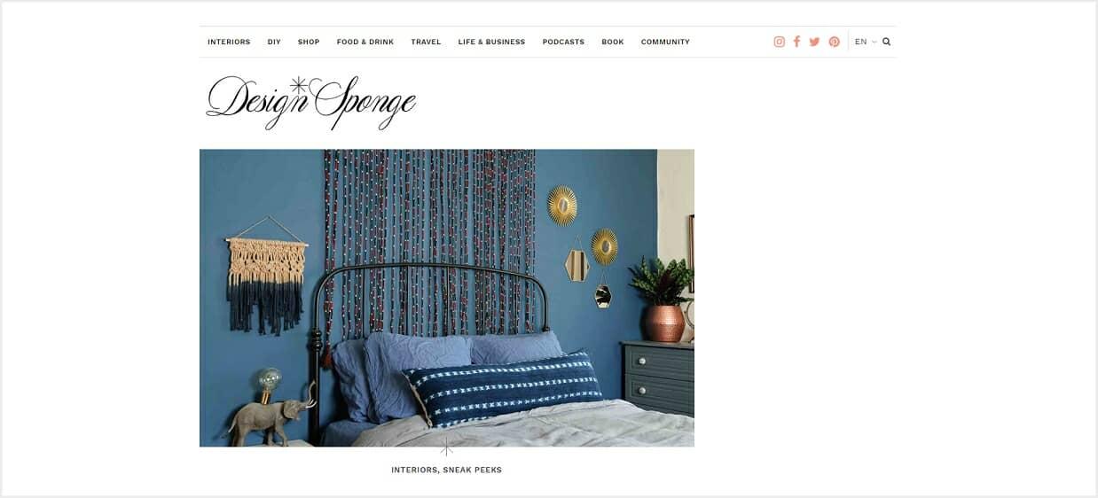 Design Sponge blog