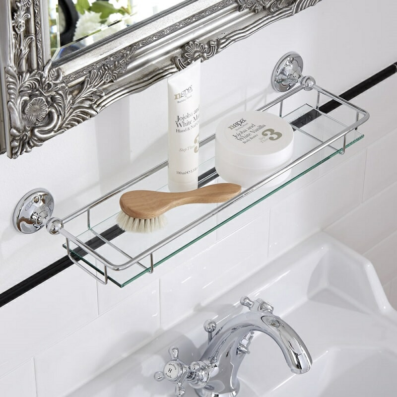 Milano Ambience glass bathroom shelf
