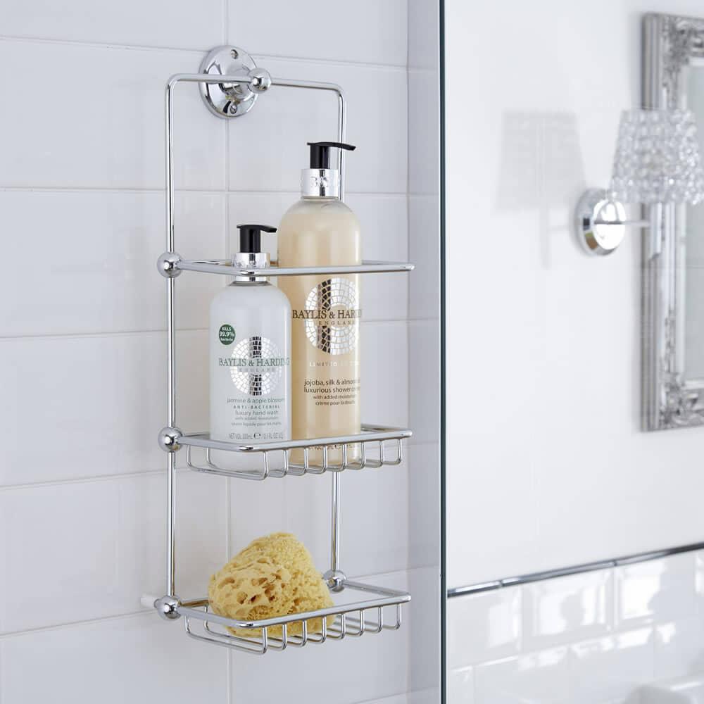 chrome shower tidy