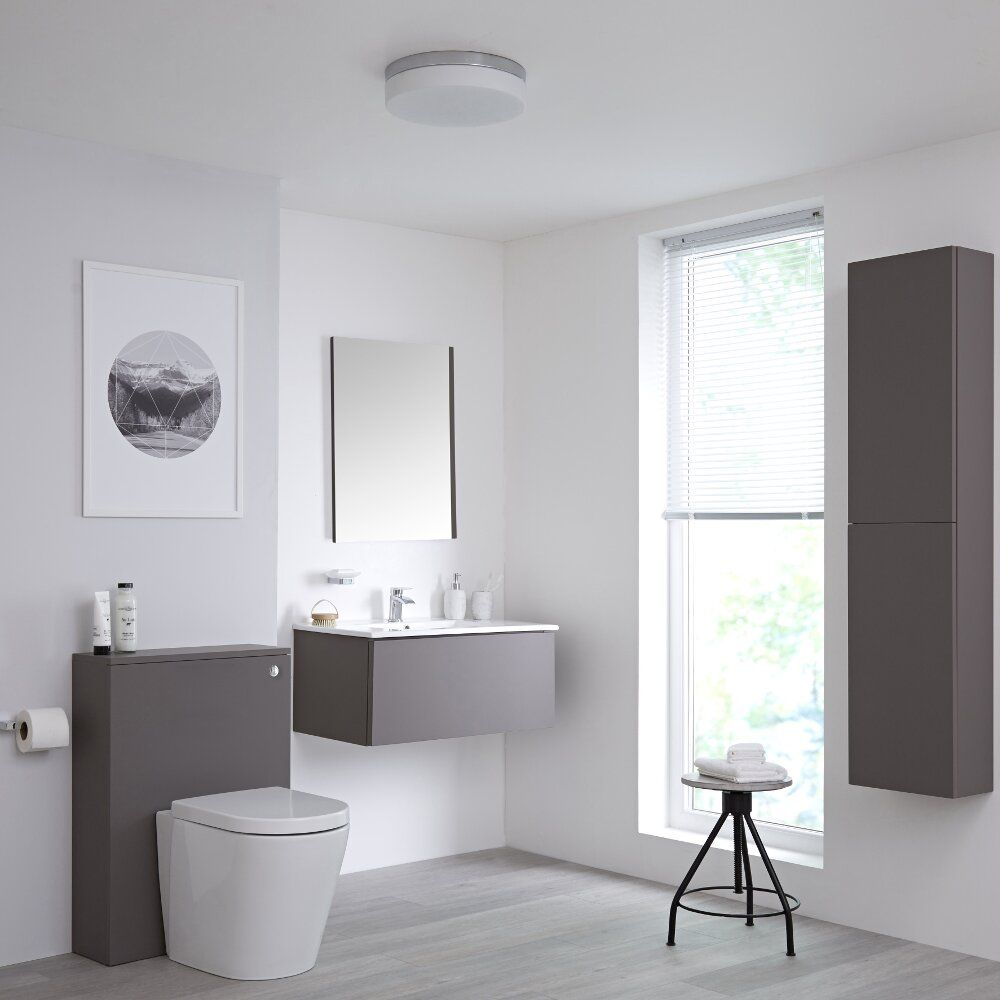 grey and cream bathroom