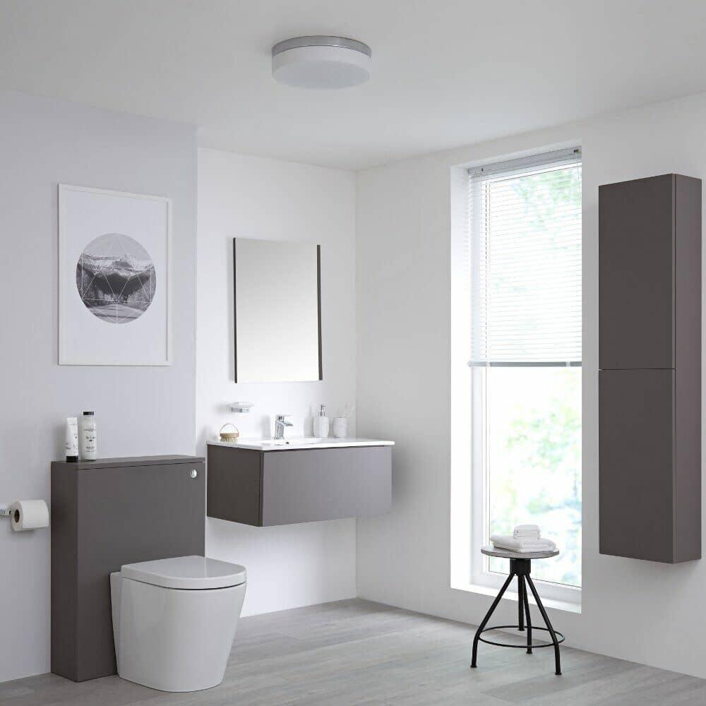 grey bathroom furniture