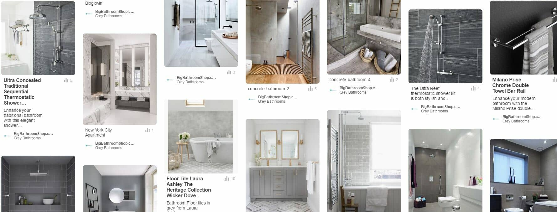 grey bathroom ideas Pinterest board