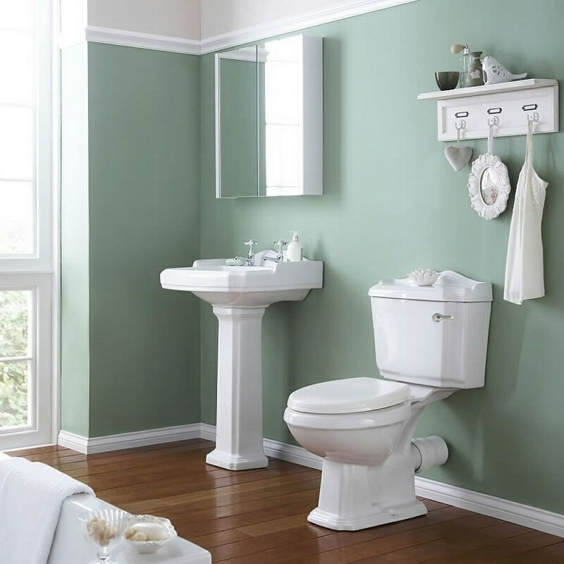 Vintage toilet and basin