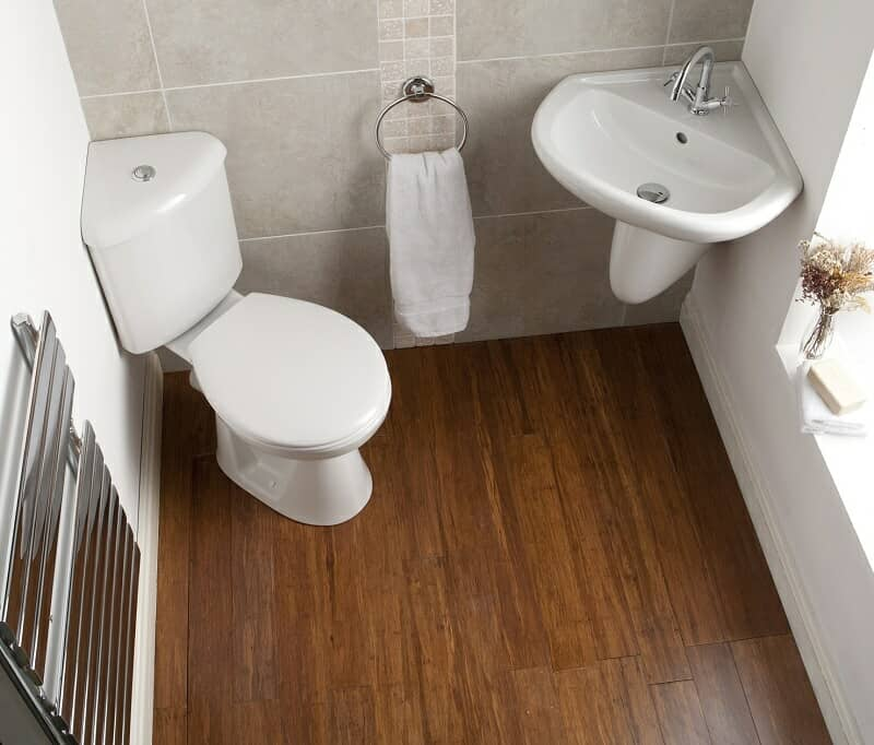 Corner Cloakroom with WC and corner basin
