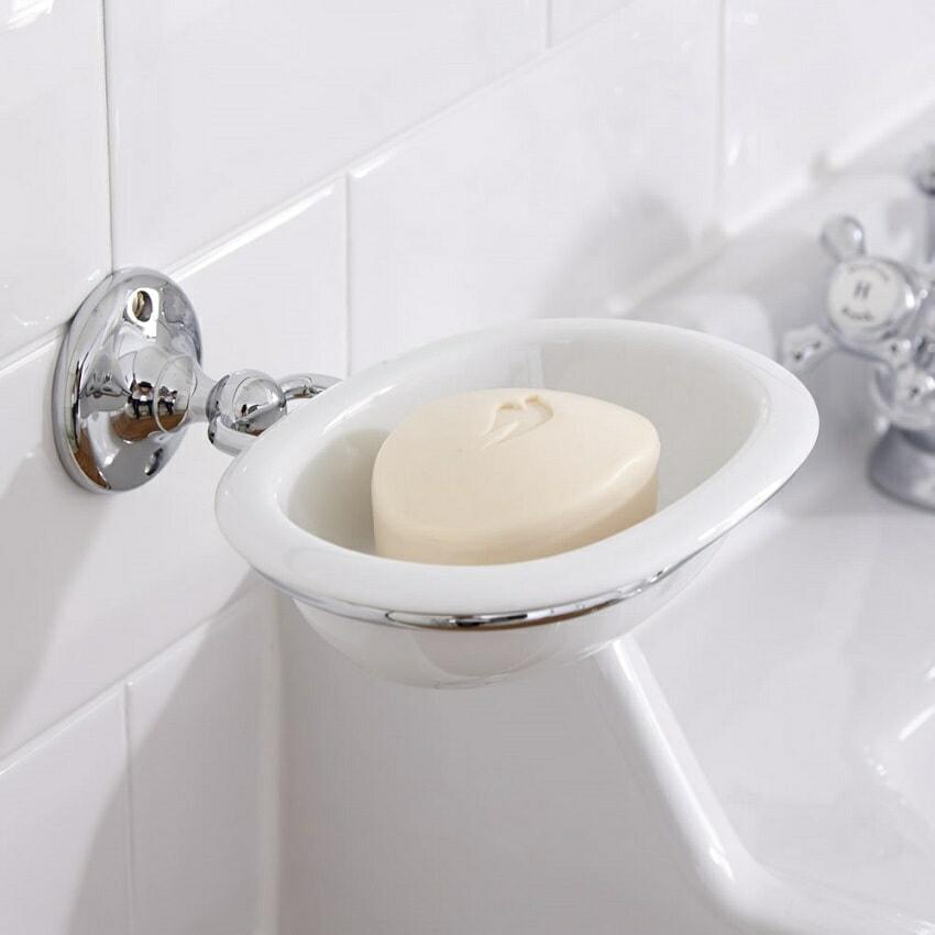 Wall mounted soap dish