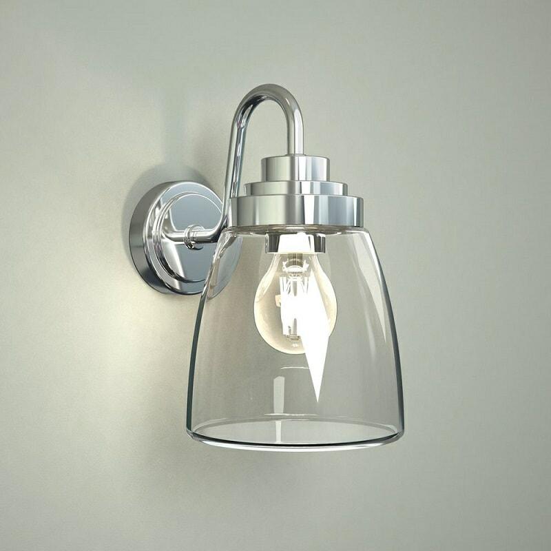 glass bathroom wall light