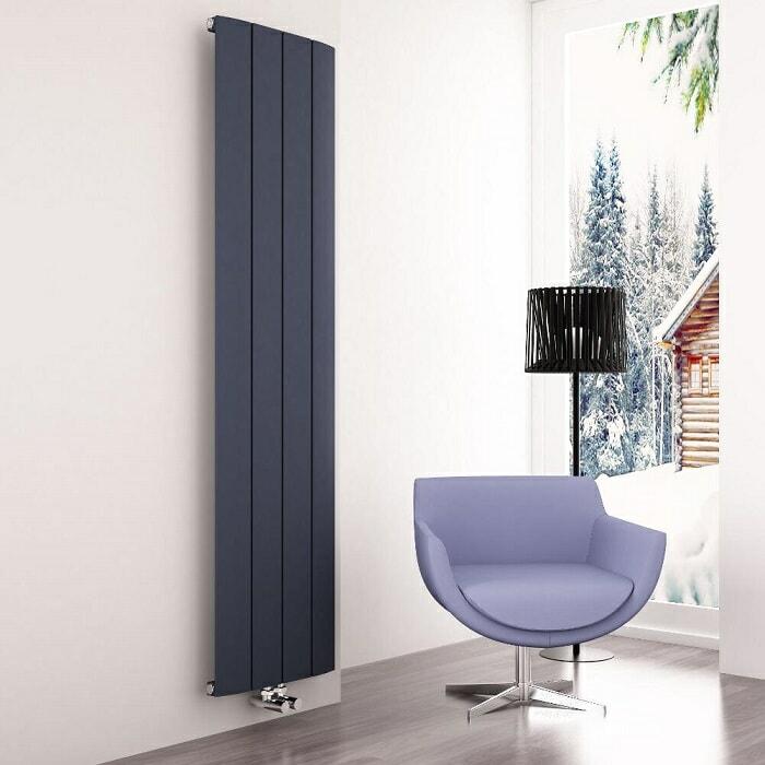 Milano skye anthracite vertical designer radiator