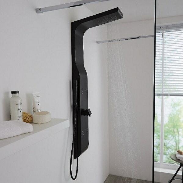 Black shower tower