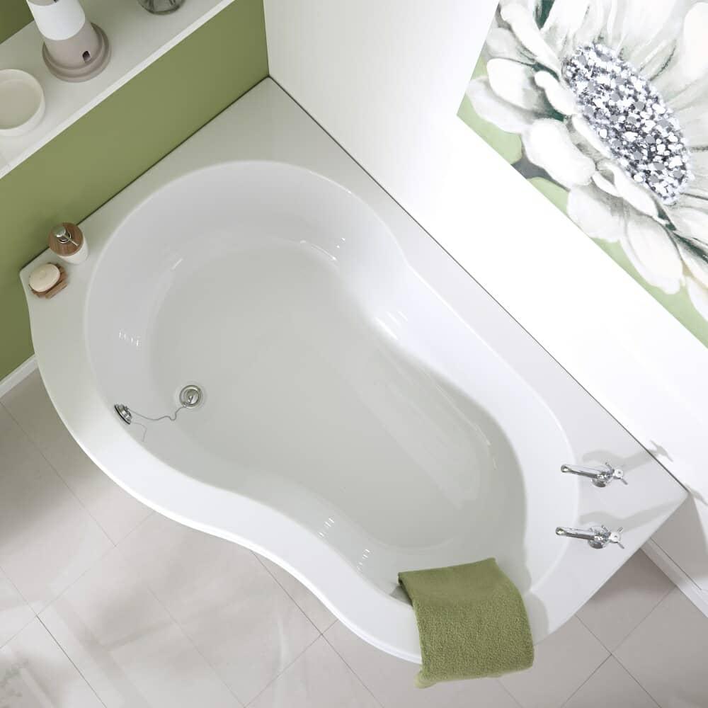 corner shower bath