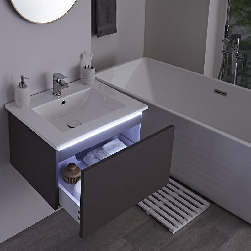 vanity unit with LED light