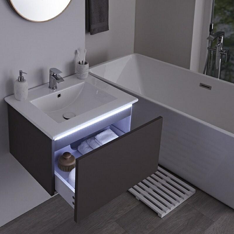 vanity unit with LED light