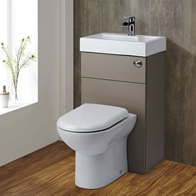 back to wall sink and toilet combination unit