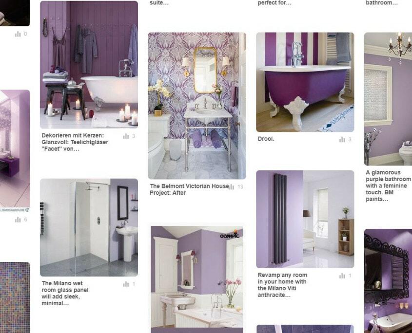 purple themed bathroom design ideas