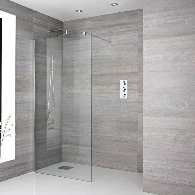 recessed wet room shower