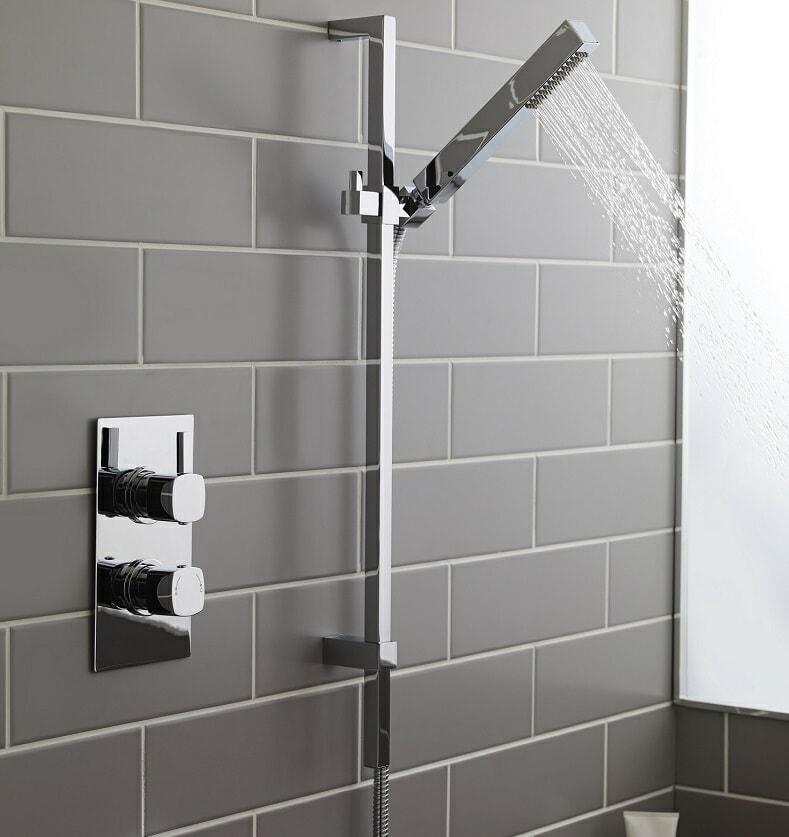 concealed shower valve with shower handset and slide rail