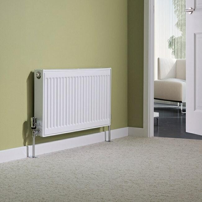 white convector radiator