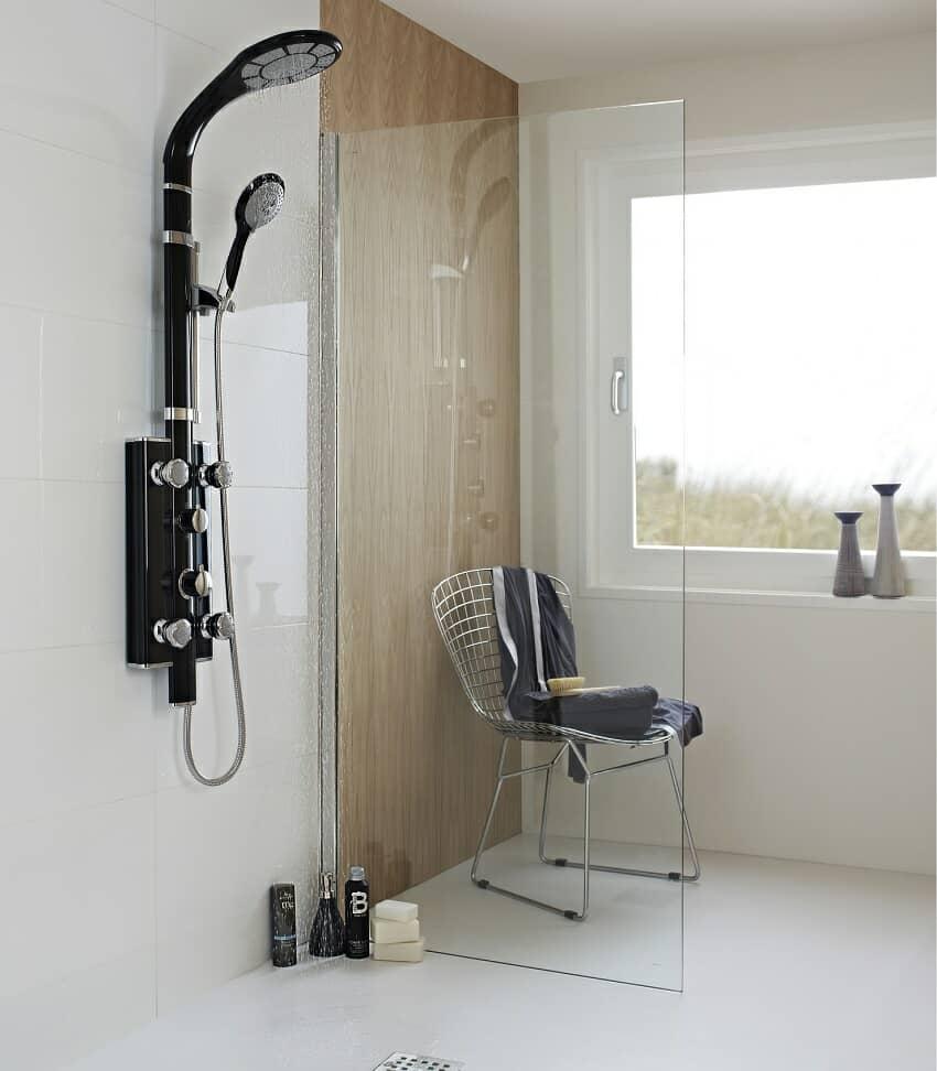 wet room with modern design shower