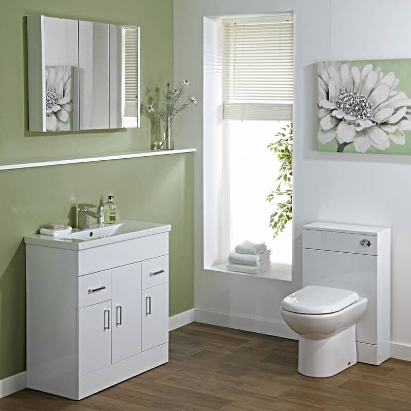Vanity unit and toilet bathroom furniture set
