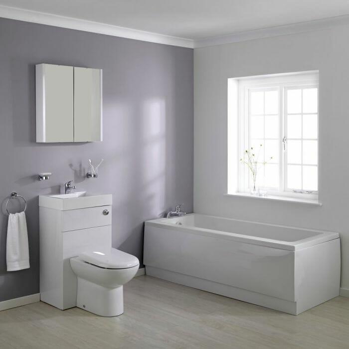 Milano WC combination unit and bathtub