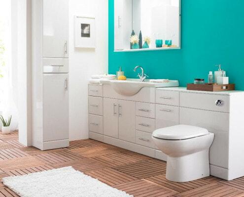 modern white gloss bathroom cabinets