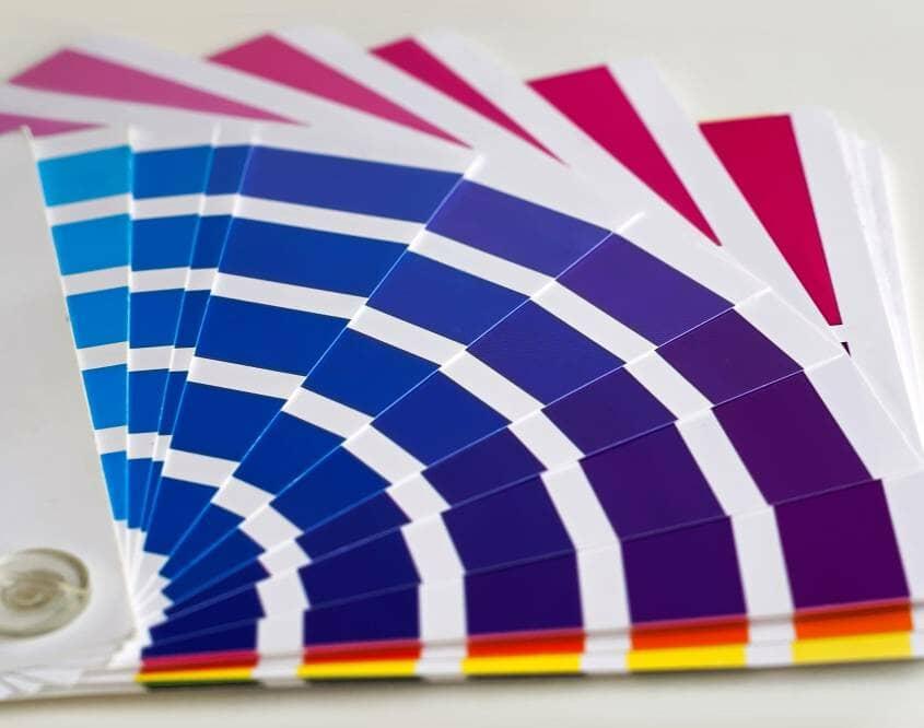 Paint colour chart