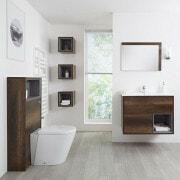 dark oak bathroom furniture