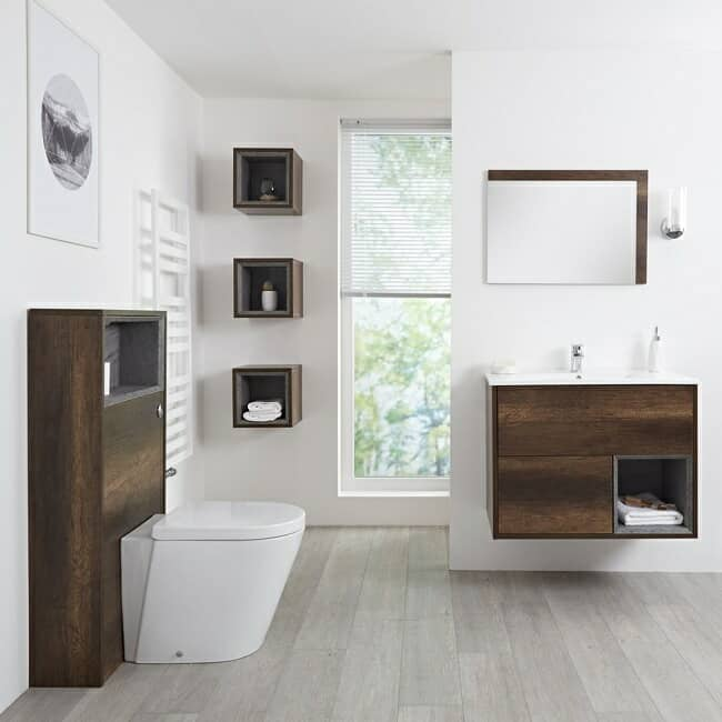 dark oak bathroom furniture
