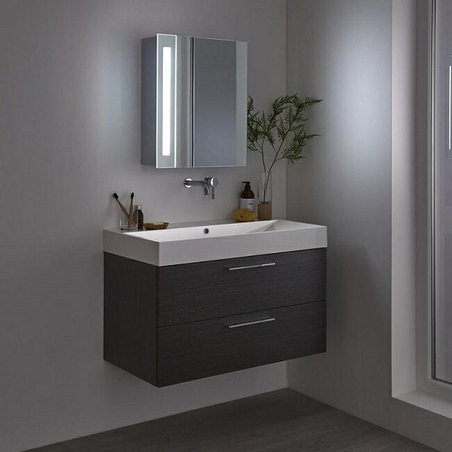 mirrored LED bathroom cabinet