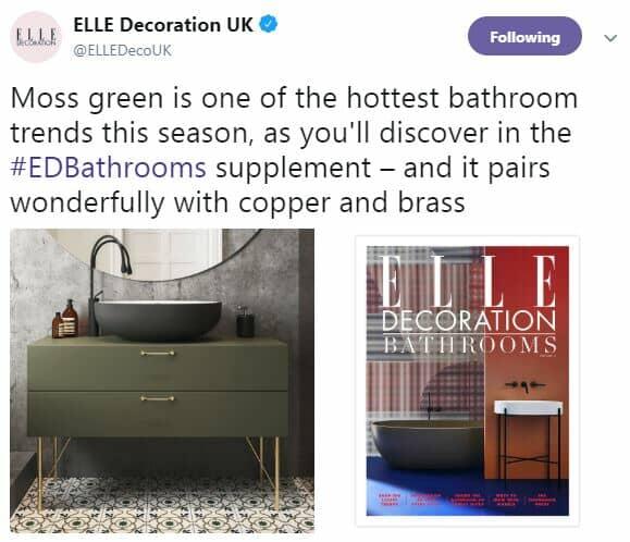 moss green bathroom furniture