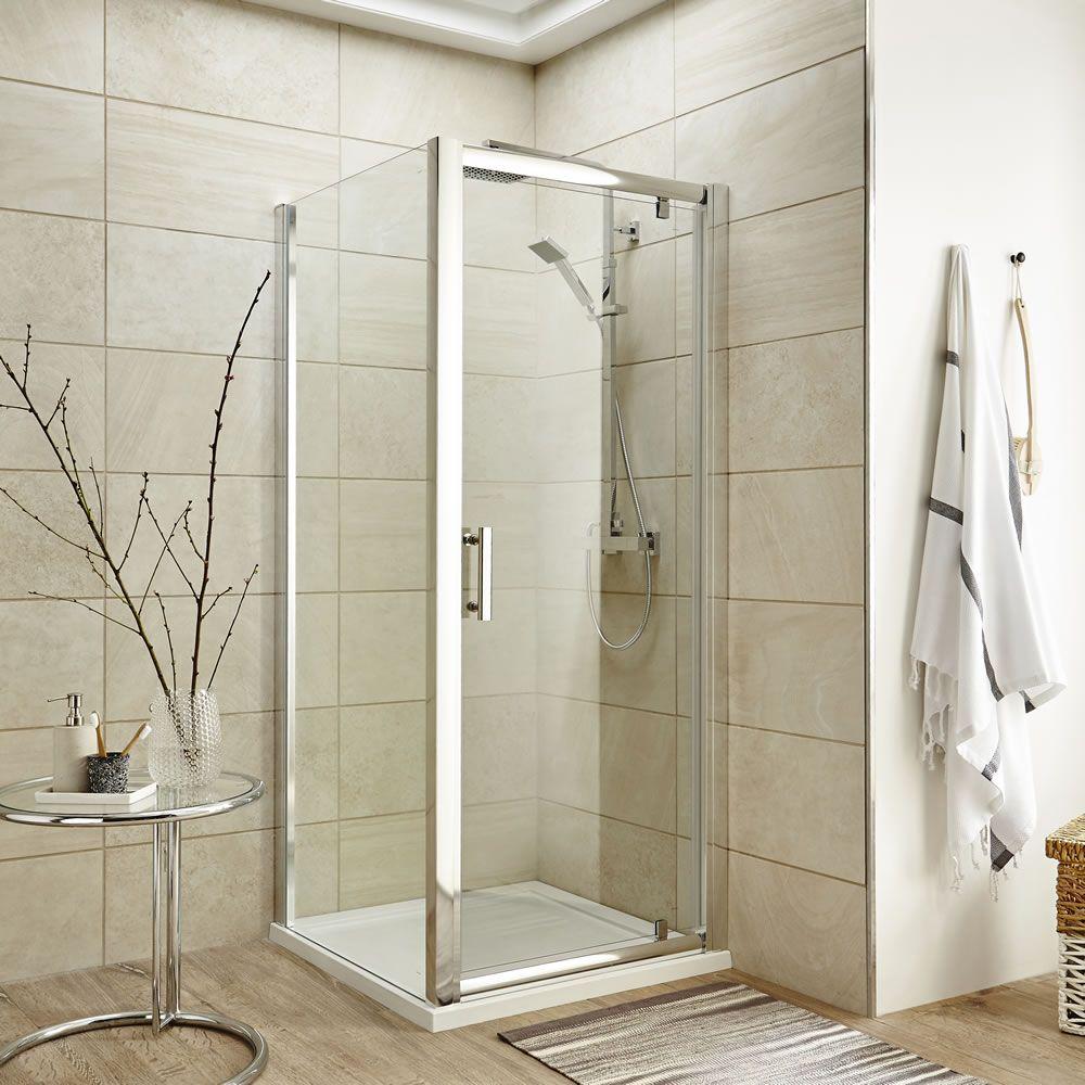 pivot shower door enclosure